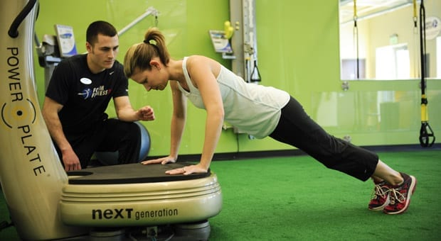 Functional fitness using Power Plate.