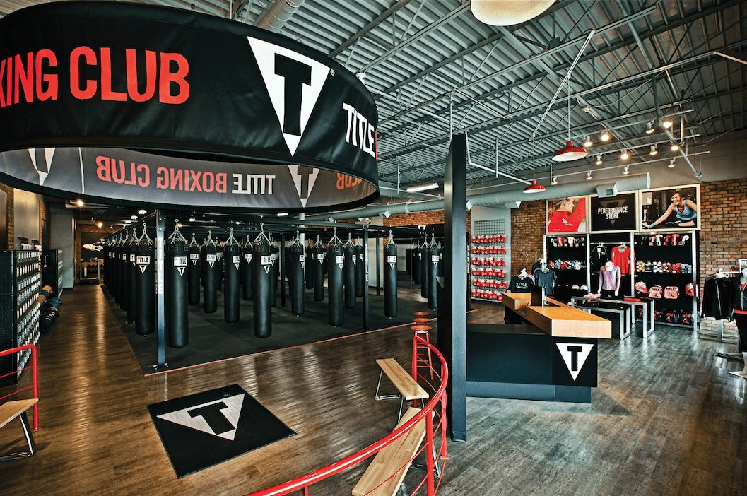 Inside a TITLE Boxing Club location.