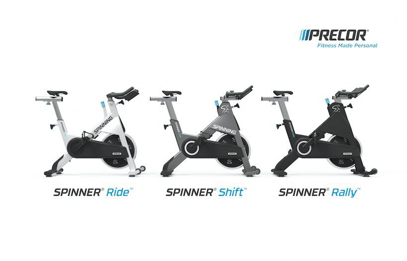 Precor and Spinning.
