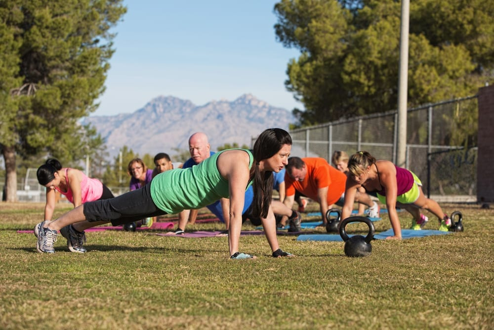 Anytime Fitness outdoor workout